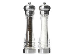 "11"" SS/Clear Salt & Pepper Mill Set"