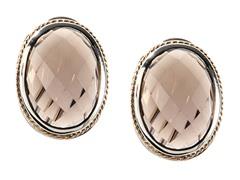 18kt Gold Accent Smokey Quartz Earrings