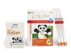 Little Pim Italian  Vol 1- 3 Pack DVD Set and Flashcards