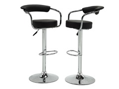 Homelegance Padded Stool Black 2pk