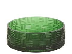 Halstead Hand-Carved Glass Pet Bowl