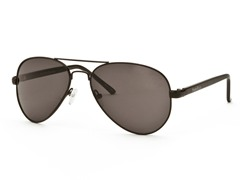 Black/Dark Gray Aviator 8 Sunglasses