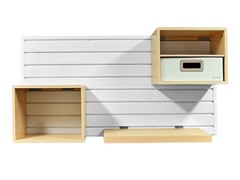 Flow Wall Flow Décor Starter Set - White/Maple