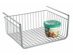 InterDesign York Lyra Silver Under Shelf Basket