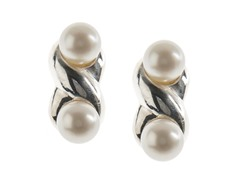 SS & Freshwater Pearl Figure-8, White