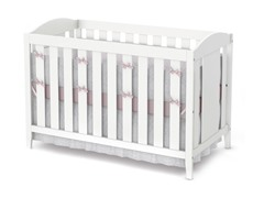 Crib and Toddler Bed - White