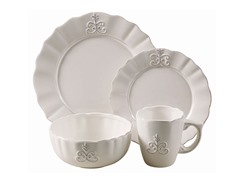 American Atelier Bianca Fleur 16 Pc Dinnerware Set
