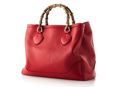 Gucci Diana Bamboo Handle Tote, Red