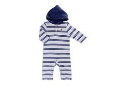 Grey Yarn Hooded Coverall (3-9M)