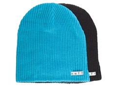 Reversible Beanie, Cyan/Black