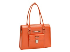River Forest Leather Ladies' Briefcase - Orange