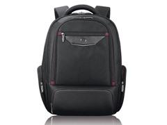 """Executive 17.3"""" Backpack - Black/Burgundy"""