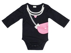 Pearls & Purse - Black (0-9M)