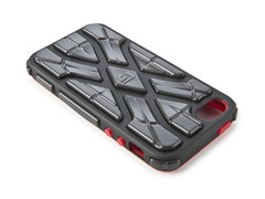Xtreme Case for iPhone 5-Black/Black/Red