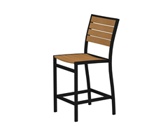 Euro Counter Chair, Black/Plastique