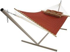 Quilted Sunbrella Hammock, Terracotta