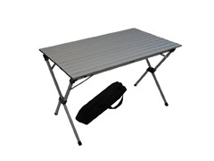 Tall Aluminum Portable Table, Grey