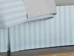 Stripe Bedskirt-Silver-5 Sizes