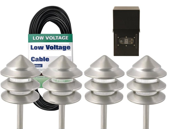 Low Voltage Metal Path Light Kit