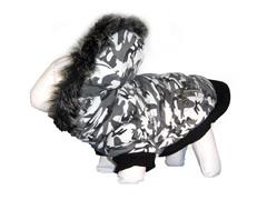 Deer Pattern Fashion Parka with Hood