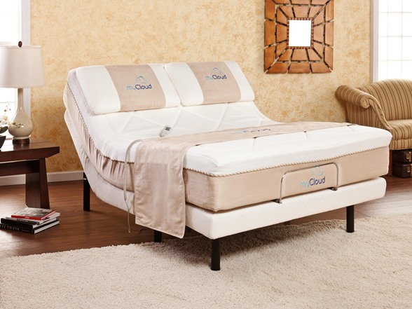 Mycloud adjustable bed mattress twin xl for Twin bed with mattress included