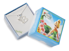 "Tinkerbell Initial Necklace - Letter ""B"""