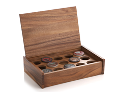 Woodard & Charles Acacia Wood K-Cup Box