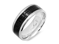 Men's Ring w/ Greek Accents