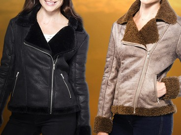 Alpine Swiss Shearling Racer Jackets