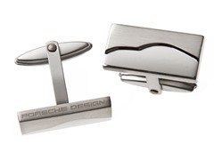 Stainless Steel Square Cufflinks, Silver