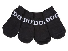 Black & White Dog Socks - Rubberized
