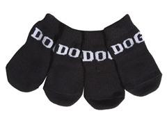 Black & White Dog Socks - Rubberized