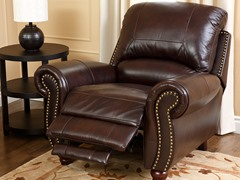 Arroyo Leather Recliner, Dk Burgundy