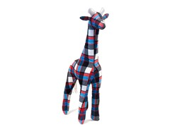 Grady the Giraffe- Blue Plaid