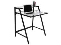 Lumisource 2-Tier Computer Desk- Clear
