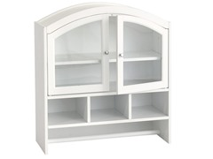 SEI White Arch Top Wall Cabinet