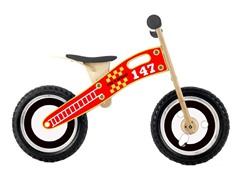 Wooden Balance Bike Fire & Rescue