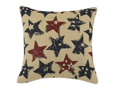 Burlap Stars 17x17 Pillows-S/2