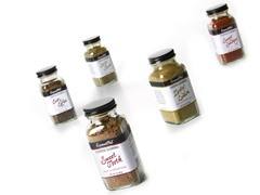 Gourmet Nut Spice Rubs, Set of 5