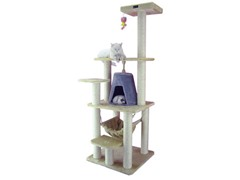 "65"" Classic Cat Tree Beige"
