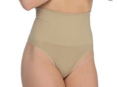 High Waisted G-String, Nude