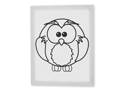 Olive the Owl Coloring Canvas