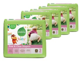 Seventh Generation Free & Clears Diapers (Stages 3 & 4)