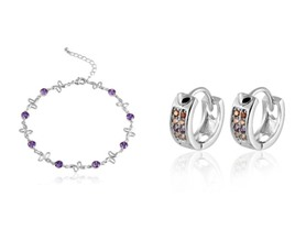 Anklet and Huggie Earring Set