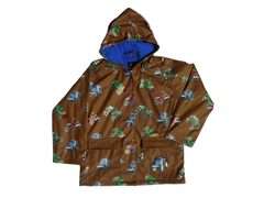 Monster Truck Rain Coat - 2T