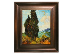Van Gogh - Two Cypresses
