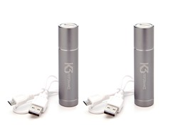 Power Tube 2200 USB Charger - 2 Pack