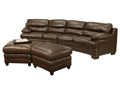 Savona Top Grain Leather Sectional Sofa