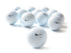 Nike One Black Golf Balls, 12-pk