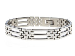 Stainless Steel Triple Bar Bracelet